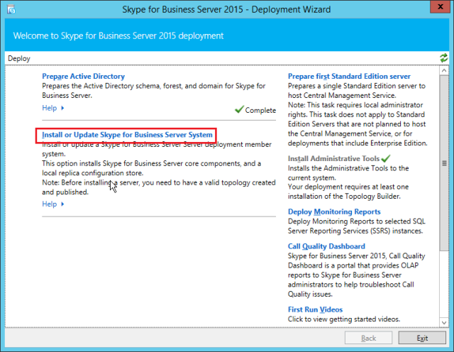 NewInstS4B2015-06-12 22_48_39-Skype for Business Server 2015 - Deployment Wizard